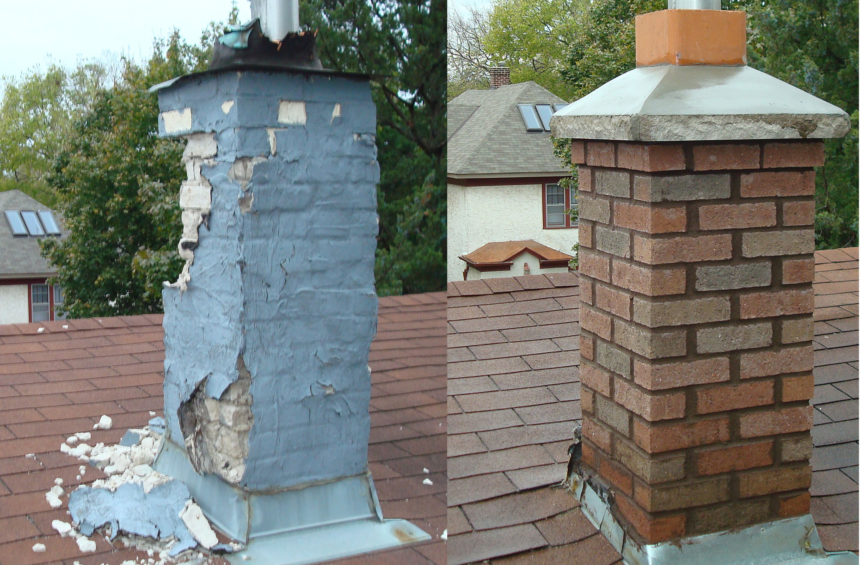 Chimney Repair And Parging Stucco And Stone